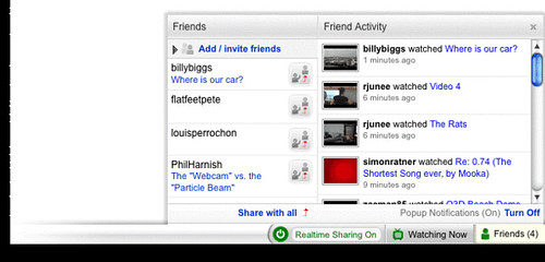 YouTube Realtime Toolbar