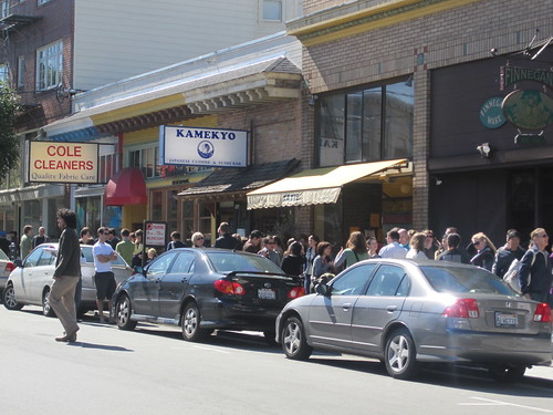 Line outside Zazie's