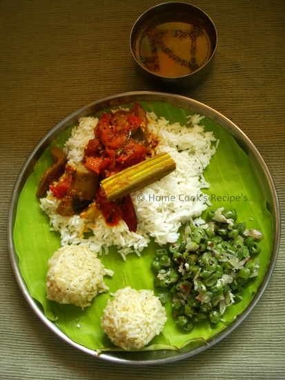 Typical South Indian Lunch Plate