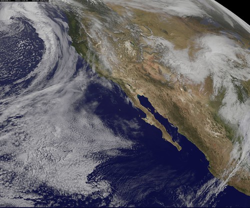 NASA GOES-11 West Coast view March 24, 2010