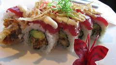 Soft shell crab with ahi roll