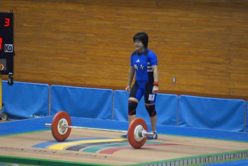 高岸冴佳選手 スナッチ81kg