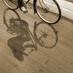 Rain (Hans van Reenen) Tags: reflection rain bicycle sepia nijmegen puddle fav50 nederland thenetherlands reflectie fietser k7 kapittelweg 20100329