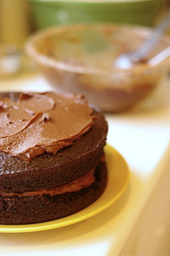 Chocolate Birf-day Cake with Cocoa Butter Cream Frosting