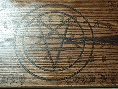 Paranormal Activity Style Ouija (dragonoak) Tags: wood activity custom paranormal occult witchcraft pagan ouija