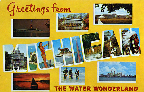Greetings from michigan the water wonderland large letter greetings from michigan the water wonderland large letter postcard m4hsunfo