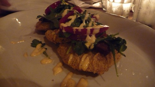 Fried green tomatoes at Peaches Hothouse