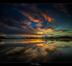 Reflecting on the sunrise (Christolakis) Tags: reflection sunrise australia brisbane queensland hdr sigma1020 supershot waterfordwest mywinners vertorama canon7d