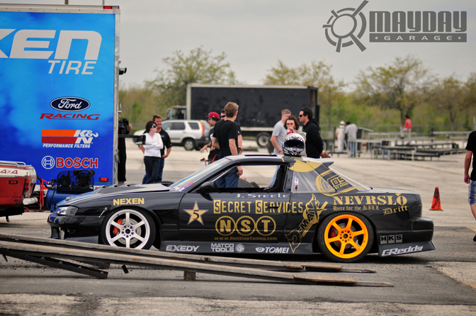 Joshua Steeles super clean S13 coupe getting ready for the night. DD.