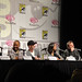 The Losers panel - Oscar Jaenada, Columbus Short, Chris Evans, Zoe Saldana, Jeffrey Dean Morgan, and director Sylvain White
