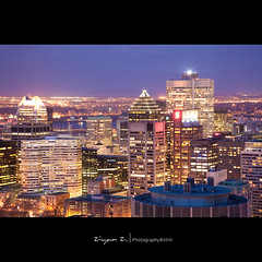 City lights 02 (Ziyan | Photography) Tags: blue light sunset canada canon purple quebec montreal 5d     ziyan  24105mm canonef24105mmf4lisusm