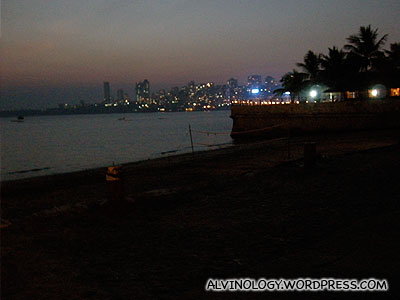 At the quiet and empty Marine Drive