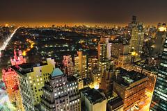 Renee's View III, Central Park at Night, New York City (andrew c mace) Tags: park city nyc longexposure roof newyork rooftop skyline night cityscape centralpark manhattan central tokina1224 midtown fifthavenue centralparkwest essexhouse newyorkatnight 59thstreet nikoncapturenx nikond90
