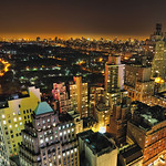 Renee's View III, Central Park at Night, New York City