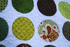 Quilt for Molly, closeup (stephanielallgood) Tags: brown green quilt circlequilt