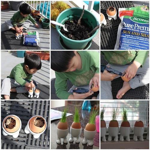 Making Grassy Eggs