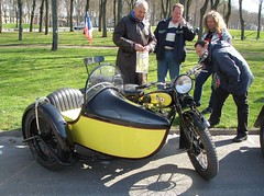 BSA S27-9 1929  avec side car (gueguette80 ... non voyant pour une dure indte) Tags: old bike single moto sidecar bsa motorrad anciennes borgne s27 seitenwagen monocylindre zijspanwagen