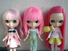 pink haired girls
