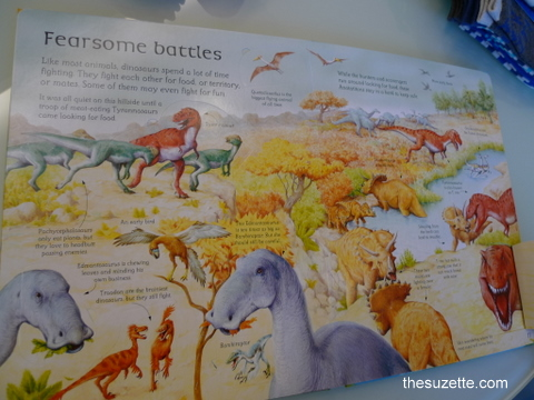 Dinosaur book - inside