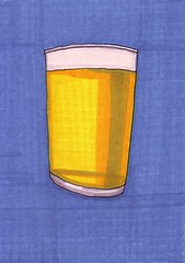 Beer Pint (Homemade Pop) Tags: art artwork artist folkart outsiderart folk originalart contemporary drawings pop popart homemade marker prints prismacolor foodart doodling 5x7 magicmarker foodpackaging pilotpen cheapart retroart brightart originalillustration quirkyart