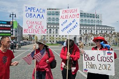 Small Tax Day Tea Party Protest at San Francis...