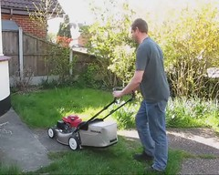 Grass Cutting With The New Mower (ohange2008) Tags: mower lazyday flyingburritobrothers grasscutting