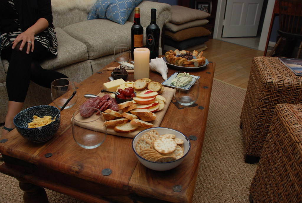 spread at Keryn's house on Thurs night (she is a charming hostess, of course)