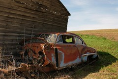 '49 88 (Kai Eiselein) Tags: barn junk rust farm sony idaho rocket rusting alpha 88 1949 gi oldsmobile eightyeight a700 rocket88 62611