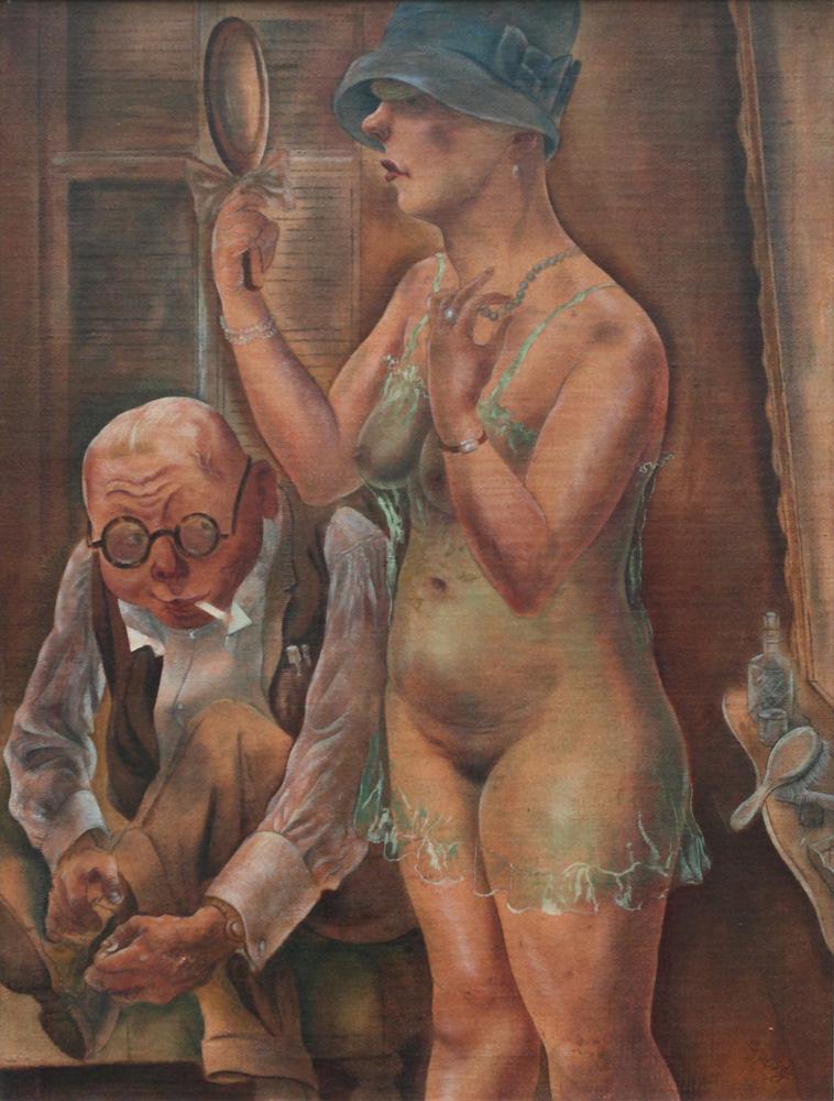 George Grosz, Mann und Frau [Husband and wife], 1926