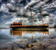 Pirate Ship (The Oracle) Tags: water clouds boat jordan hdr pirateship pirateboat supershot surrealphotography torontophotographer justclouds mywinners abigfave jordanharbour colorphotoaward fantasyphotography torontophotography 100commentgroup magicunicornverybest