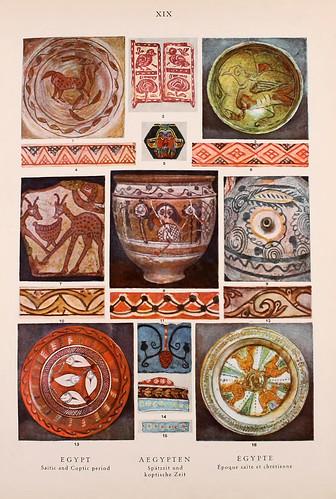 006- Egipto epoca Saita y Cristiana-Ornament two thousand decorative motifs…1924-Helmuth Theodor Bossert