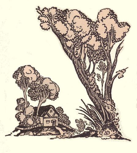 a cottage decoration by illustrator Elizabeth MacKinstry
