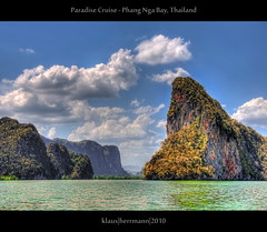 Paradise Cruise - Phang Nga Bay, Thailand (HDR) (farbspiel) Tags: ocean travel sea vacation holiday tourism water photoshop relax geotagged thailand island photography boat nikon rocks asia southeastasia journey handheld mystical nikkor dri hdr highdynamicrange tha settings workflow phangnga postprocessing dynamicrangeincrease phangngabay 18200mm d90 amazingthailand blueribbonwinner photomatix tonemapped tonemapping holidaydestination detailenhancer processinginformation hdrprocessing topazadjust topazdenoise klausherrmann updatecollection hdrworkflow nikonafsdxnikkor18200mm13556gedvr geo:lat=833941720 geo:lon=9850517700 geo:lat=833941667 geo:lon=9850517667 hdrpostprocessing
