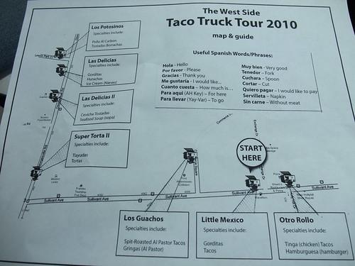 Taco Tour 2010 Map