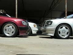 Mercedes 500E red + silver & 300CE-24 Topless (q8500e) Tags: auto red hot car silver wow germany mercedes benz 1 cool 124 94 topless 1992 kuwait mb 92 v8 waw amg q8 w124 e500 2fast4u 500e q8i q8500e