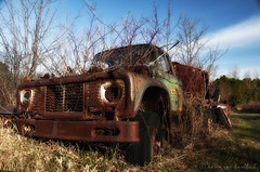 Acton Retired (KvonK) Tags: old morning abandoned truck rust mcleans