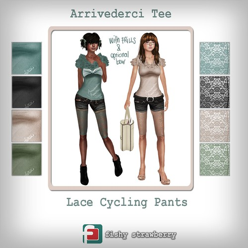 Arrivederci Tee & Lace Cycling Pants