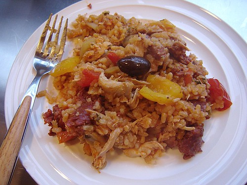 Chicken & Chorizo Paella 1, enhanced