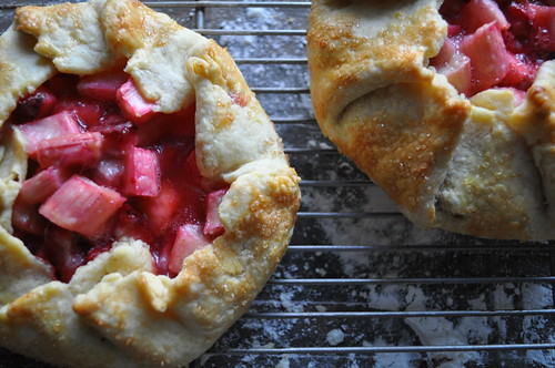 Individual Strawberry Rhubarb Galettes