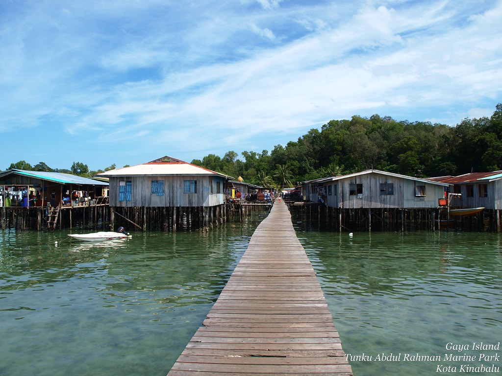 Penang Island Wallpaper Stilt Houses at Gaya Island