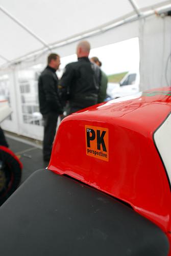 The PK sponsor sticker on the bikes
