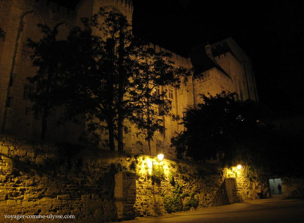 Palais des Papes de nuit