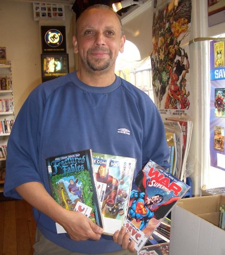 Calamity Comics co-owner Van Genderen