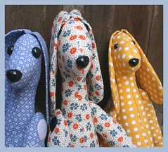 Dapper Dogs from handmaid by helen hedding (pics from handmaidbyhelenhedding) Tags: dogs softies etsy madeit