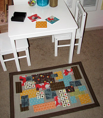 The BIG REVEAL.... (Sew-Fantastic) Tags: kitchen linen scraps patchwork fmf denyseschmidt floorrug fleamarketfancy
