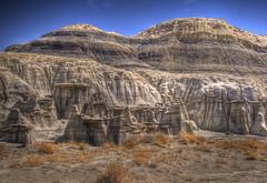 Bisti Badlands, New Mexico (Thad Roan - Bridgepix) Tags: blue sky newmexico nature rock landscape desert formation badlands geology wilderness navajo farmington fourcorners bisti 201003