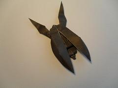 Beetle by Grzegorz Bubniak (faantazja) Tags: black wet paper origami beetle cp grzegorz bubniak