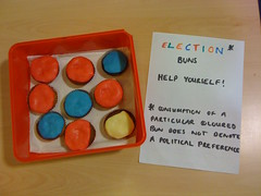 Work place democracy (Becki Scott) Tags: democracy colours explore buns workplace labour conservative vote voting poll iphone liberaldemocrats generalelection exitpoll pollingbooth img1510 snaptweet ge2010