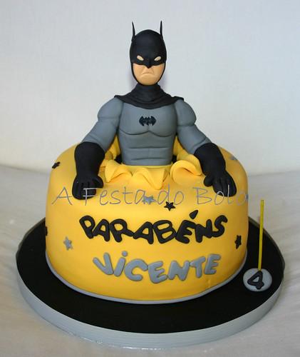 Batman, o super-herói que o Vicente escolheu para a sua festinha! Parabéns Vicente!