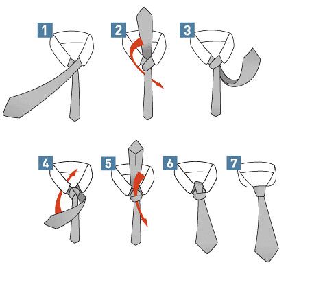 how to tie windsor knot step by step. Step by step instructions for